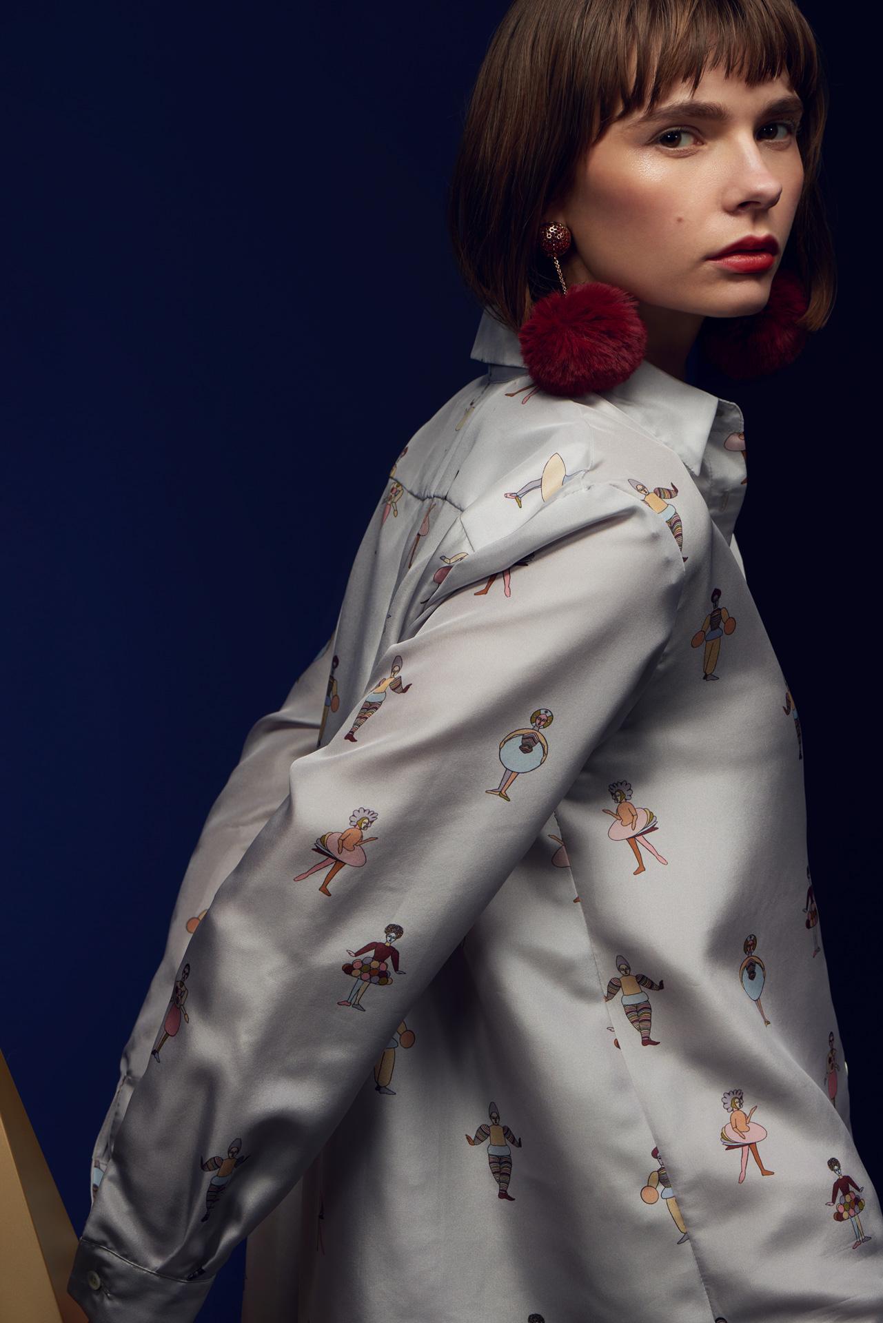 Marcha x Anna Bak Triadic Dancer Silk Shirt