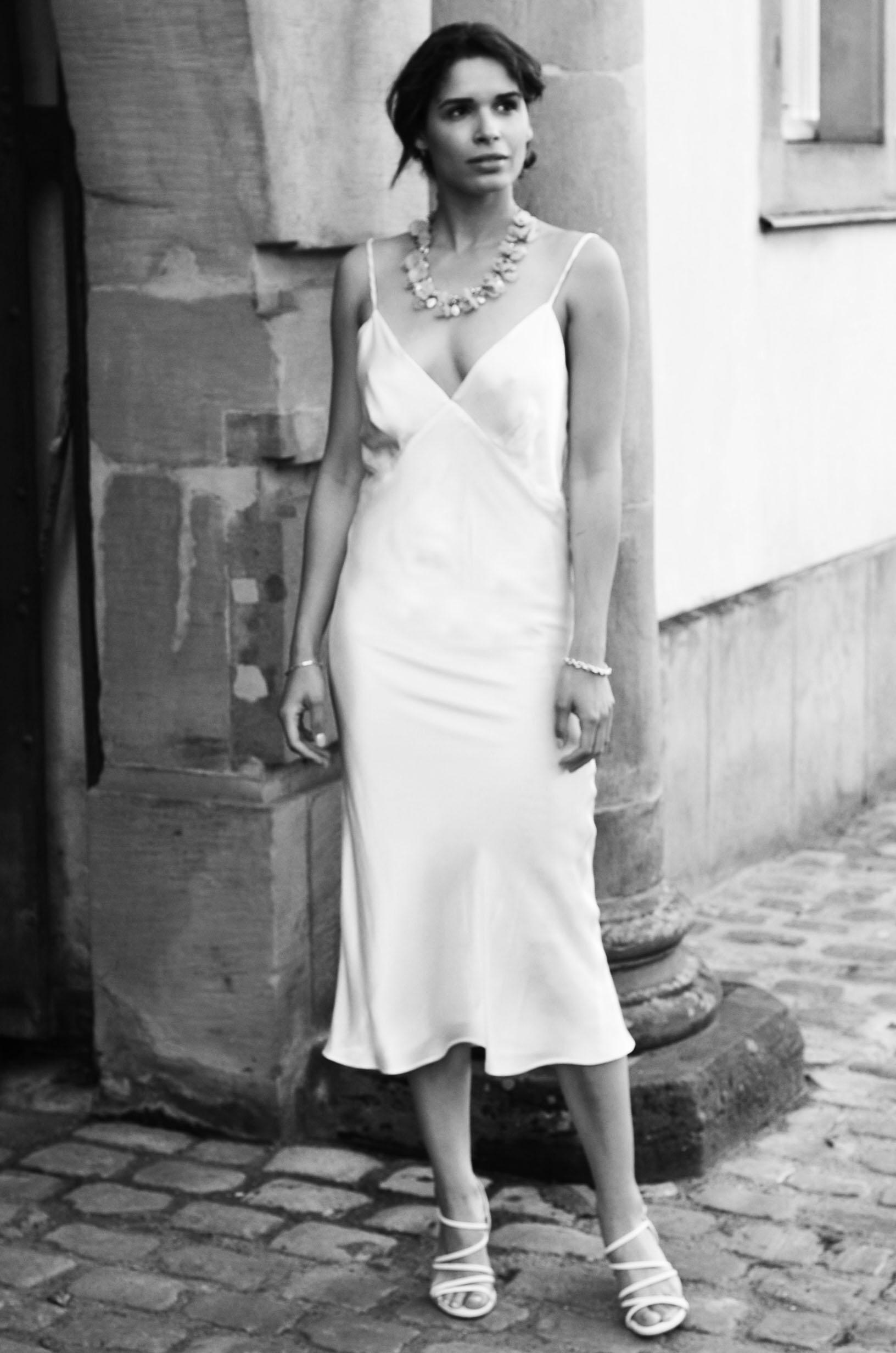 Juli Silk Midi Slip Dress - MARCHA Bridal Collection