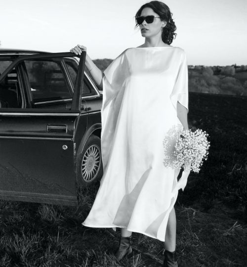 Poppy Silk Kaftan - MARCHA Bridal Collection