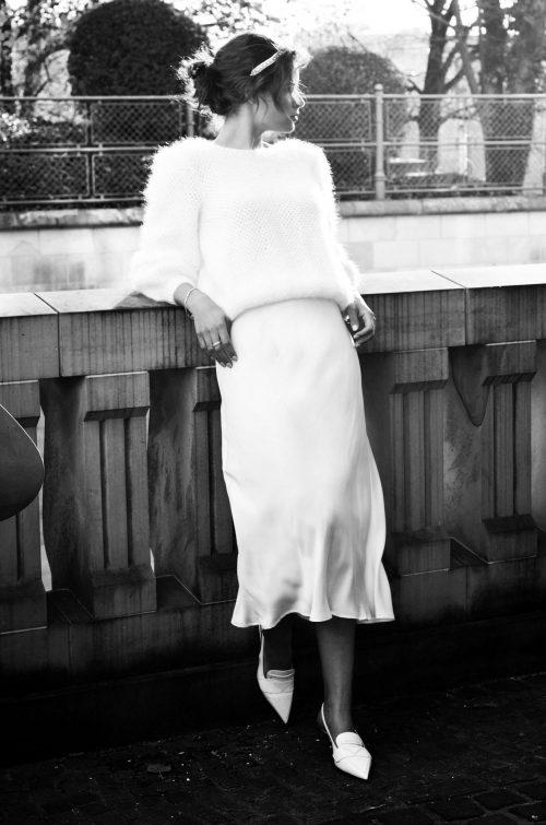 Theresa Silk Skirt - MARCHA Bridal Collection